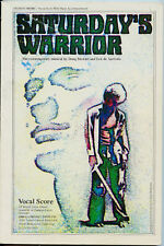 Saturday's Warrior - Music Book - Piano & Vocal - 1974