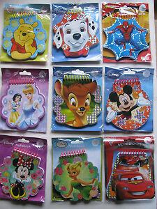 Disney Notebook 60 Sheets Novelty Shape Various Colourfull Gift Kids Boys Girls