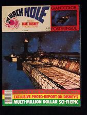 WALT DISNEY-THE BLACK HOLE-VINTAGE MOVIE POSTER MAGAZINE-ANTHONY PERKINS-SPACE