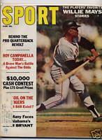 1967 SPORT Magazine, Willie Mays San Francisco Giants, Bear Bryant, Alabama