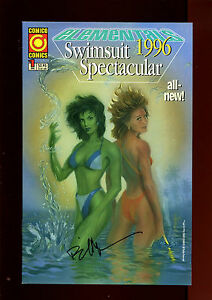 ELEMENTALS 1996 SWIMSUIT SPECTACULAR 1(9.2)(NM-)AUTO/BILL WILLINGHAM W/COA
