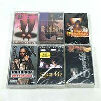 Lot of 6 Cassette Tapes 90's FEMALE Rap Hip Hop Rah Digga Sparkle Da Brat [NEW]