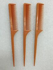 3PCS ANNIE TEASE COMB #28 VERY FINE TOOTH COMB FOR TEASING WITH RAT TAIL COMB