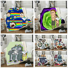 Rick and morty cover blanket Sofa bedding throw bed carpet 130*150 150*200cm UK