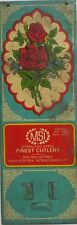INDIAN VINTAGE TIN SIGN ADVERTISEMENT BOARD - MSI FINEST CUTLERY