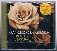 FRANCESCO DE GREGORI PRENDERE E LASCIARE  CD F.C.  SIGILLATO!!!