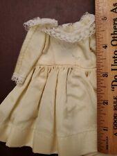 "VINTAGE FASHION DOLL DRESS fits 10""  yellow taffeta lace Little Miss Revlon ETC"