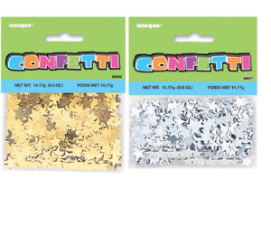 Pack of 2 Silver Or Gold Tiny Metallic Star Confetti