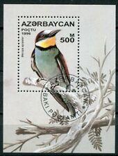 Aserbaidschan Block 23 gestempelt, Singvögel - Bienenfresser