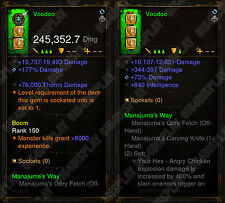 Diablo 3 RoS XBOX ONE - [SOFTCORE] New 2.6 - Modded Witch Doctor Weapon Bundle