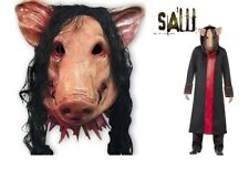 Saw Pig Head Scary Masks Novelty Halloween Mask With Hair Halloween Mask 1PC CN