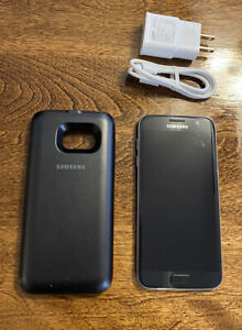 Samsung Galaxy S7 With Exteneded Wireless Battery Case Verizon Clean
