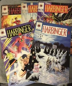 Harbinger #1-5 (#1 Mid To Low Others Mid To High) Coupons Still Attached On All