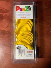 PawZ Natural Rubber Dog Boots Pack of 12 Yellow Size XX-Small Brand New