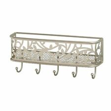 Key Rack Letter Holder Mail Organizer Wall Mount Hook Steel Kitchen Decor Home