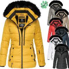 Marikoo Damen Winter Jacke Steppjacke Teddyfell Outdoor Kurzmantel Warm Snowgirl