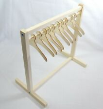 More details for wooden mini clothes rail and clothes hangers for rack - various sizes | dolls