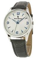 PIERRE BONNET orologio da polso uomo 9190B pelle bianco vintage originale 50 60