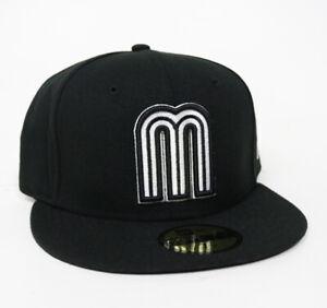New Era Cap Mexico World Baseball 59FIFTY Fitted Hat Gorra Cerrada Black
