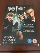 HARRY POTTER - YEARS 1-5 - 5 DISC DVD SET. EN VOZ ORIGINAL. ONLY IN ENGLISH
