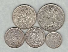 More details for 1946 george vi five coin silver set in extremely fine or better condition