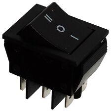 Interrupteur commutateur contacteur bouton  bascule noir DP3T ON-OFF-ON 15A/250V