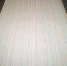 Classic Thin Pink, Green, Blue, & Beige Stripes on Off White by York PH 9018