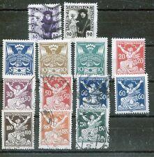 TCHECOSLOVAQUIE :timbres de 1920/25 (oblitérés et neufs avec trace de charnière)
