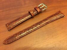 NEW KREISLER WATCH BAND BRACELET - Croco Grain Leather 13mm 242303-13 Honey