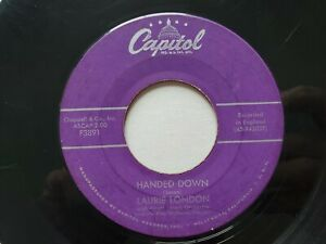 LAURIE LONDON - He's Got The Whole World (In His Hands) / Handed Down 1957