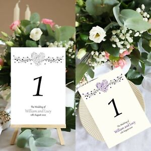 Heart Table Number Wedding Number Cards Venue Decor