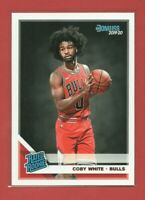 2019-20 Panini Donruss Coby White RC, Rated Rookie Card, Chicago Bulls