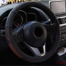 "Car Steering Wheel Cover Cow Leather 38CM/15"" For Lexus Mitsubishi Subaru Acura"