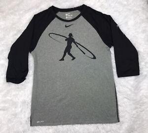 Nike Dri-Fit Swingman Ken Griffey Jr Mens 3/4 Sleeve Shirt Size M Medium EUC