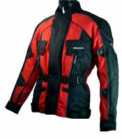 ROSSI WATERPROOF MOTORCYCLE MOTORBIKE JACKET RED CE ARMORS LARGE SIZES