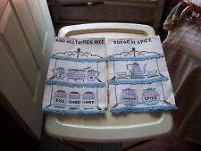 VINTAGE LINEN PAIR KITCHEN TOWELS-CROSS STITCHED-NEW