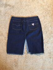 GUESS DENIM DOUBLE SPLIT SKIRT...SIZE 28