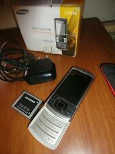 SAMSUNG C3050 PHONE ICE SILVER MOVISTAR TESTED BATTERY CHARGER PSU USED MARKS