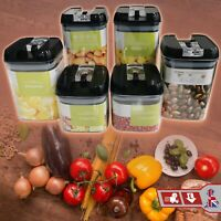 1.4/3.6 & 6 Cup Containers Air-Tight Jars Food Storage Kitchen Stackable 6 Piece
