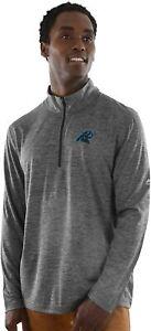 Carolina Panthers Men's Intimidating Performance 1/2 Zip Top Jacket - Charcoal