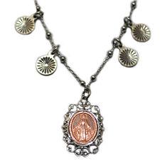 Collana forzatina tipo rosario pallina liscia madonna miracolosa placcata oro