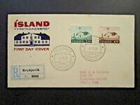 Iceland SC# 315 - 316 1958 Gov Building FDC - Z4668