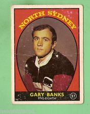 #D126. 1968 SERIES 1 RUGBY LEAGUE CARD #37  GARY BANKS, NORTH SYDNEY