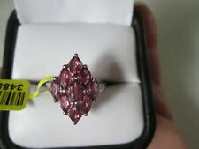 Orissa Rose Garnet Platinum over Sterling Silver Ring (Size 7) TGW 2.70 cts.