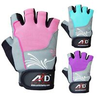 ARD® Women's Weight Lifting Gloves Gym Training Fitness Leather Gloves S-XL