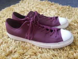 Euc Mens Burgundy Converse Chuck Taylor All Star LP II Leather Size 12 EU 46.5