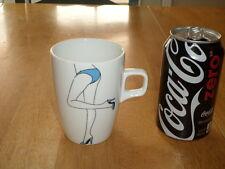 LONG LEGGED FEMALE IN PANTIES & HIGH HEELS, Ceramic Coffee Cup / Mug,