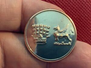EARL FITZWILLIAM'S (FOX) HUNT (WENTWORTH) 27.4mm S/P COAT BUTTON PITT 1895-1914
