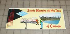 Vtg The Gray Line Scenic Memoirs of My Tour to Chicago Postcard Booklet unused