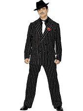Mens Gangster Zoot Suit Costume Adults 1920s Pimp Fancy Dress Pinstripe Outfit